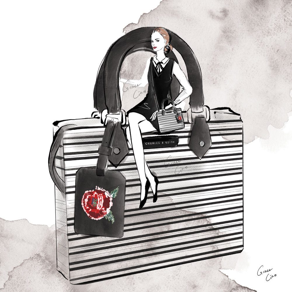 Illustrated Content for Charles and Keith Instagram