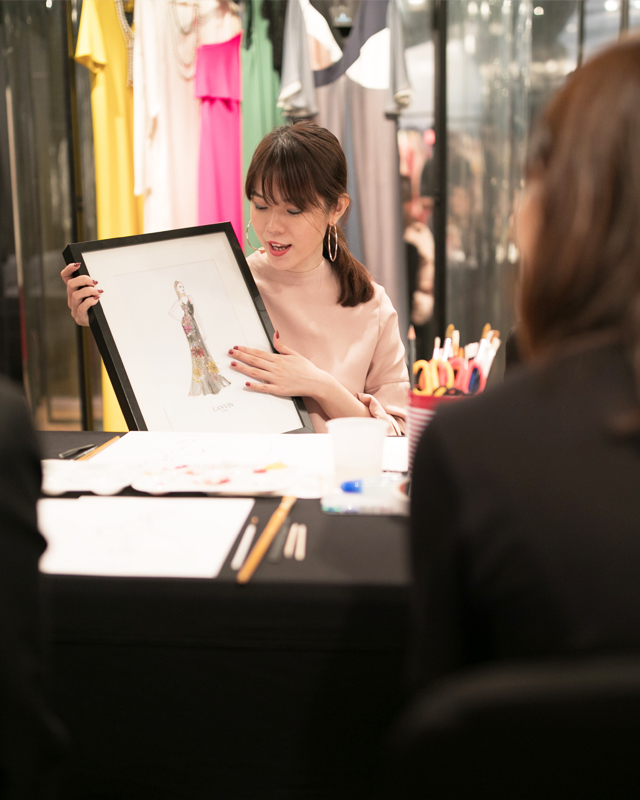 Fashion illustration workshop for Lanvin VIPs