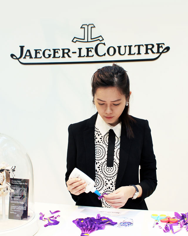Live art demonstration at Jaeger LeCoultre in Hong Kong - Media Event