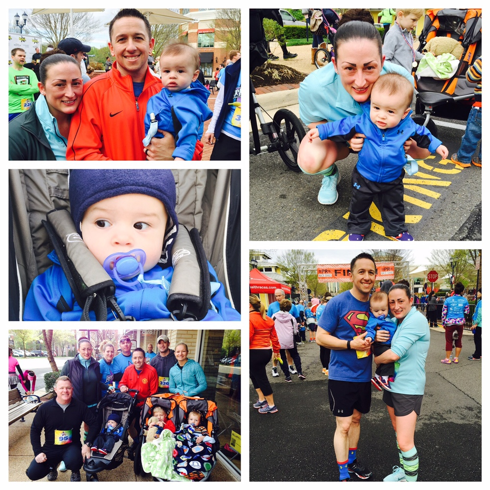 We ran our first family stroller 5K in April