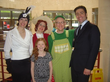 Charlotte Symphony Orchestra (2011) GREEN EGGS AND HAM & Ravel's MOTHER GOOSE Kimberly as Theodora Giselevska Sara as Cousin Duck Michael as Sam-I-Am Jacomo Bairos Rafael, conductor & Maya Carpenter, audience member