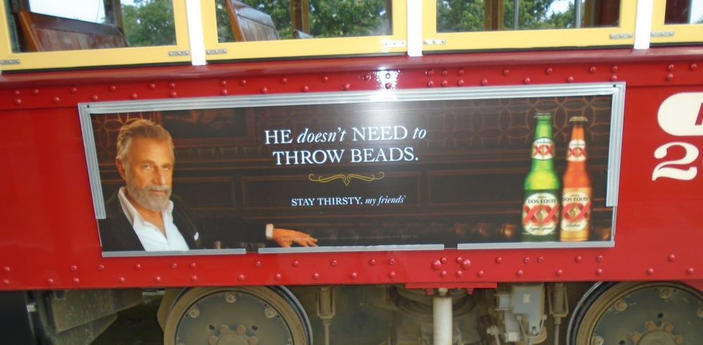 He doesn't need to throw beads