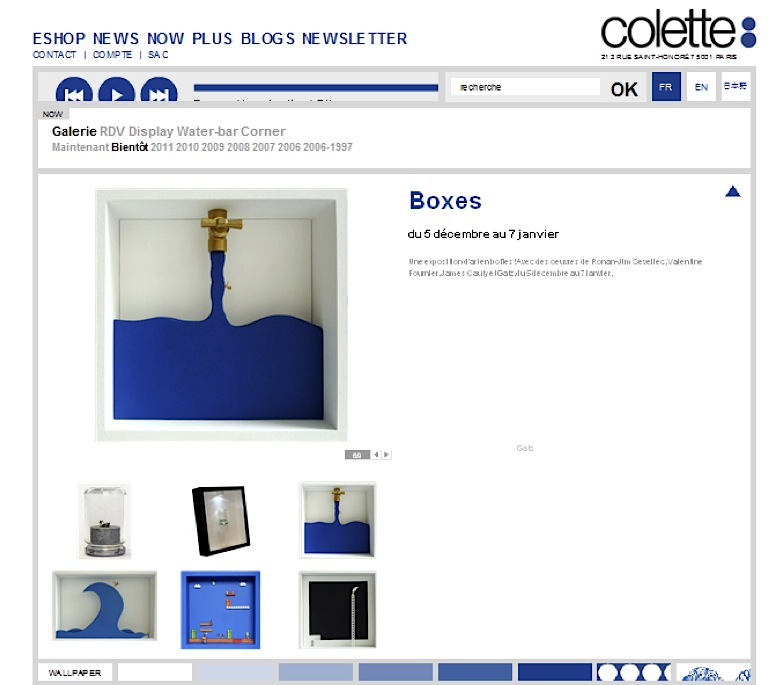 Art In Boxes, colette, 2011
