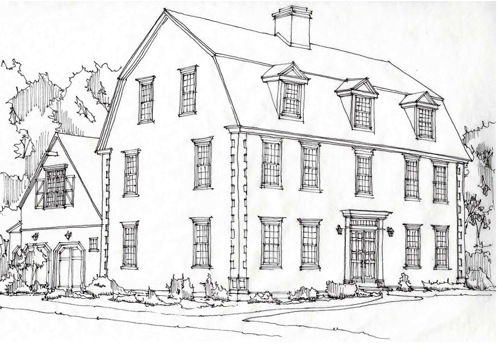 CCHonline Gambrel House Rendering