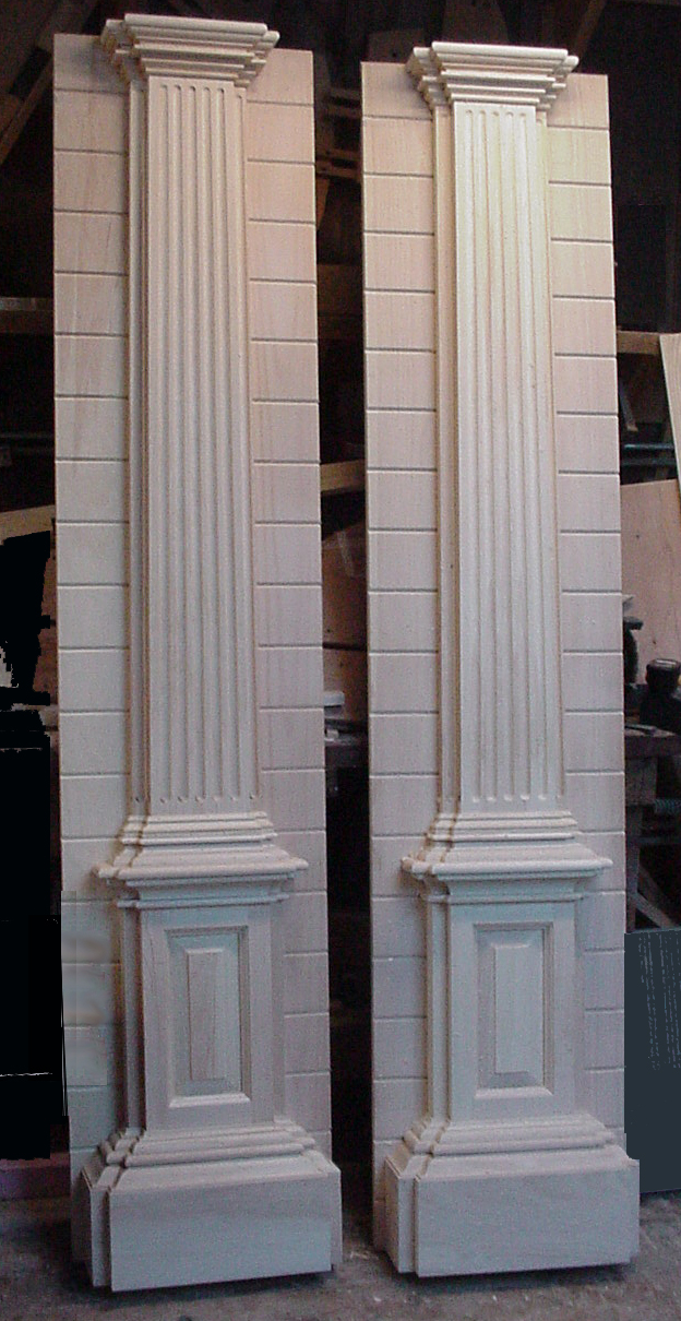Flat doors decoration decorative double wood front door for Exterior door pediment and pilasters