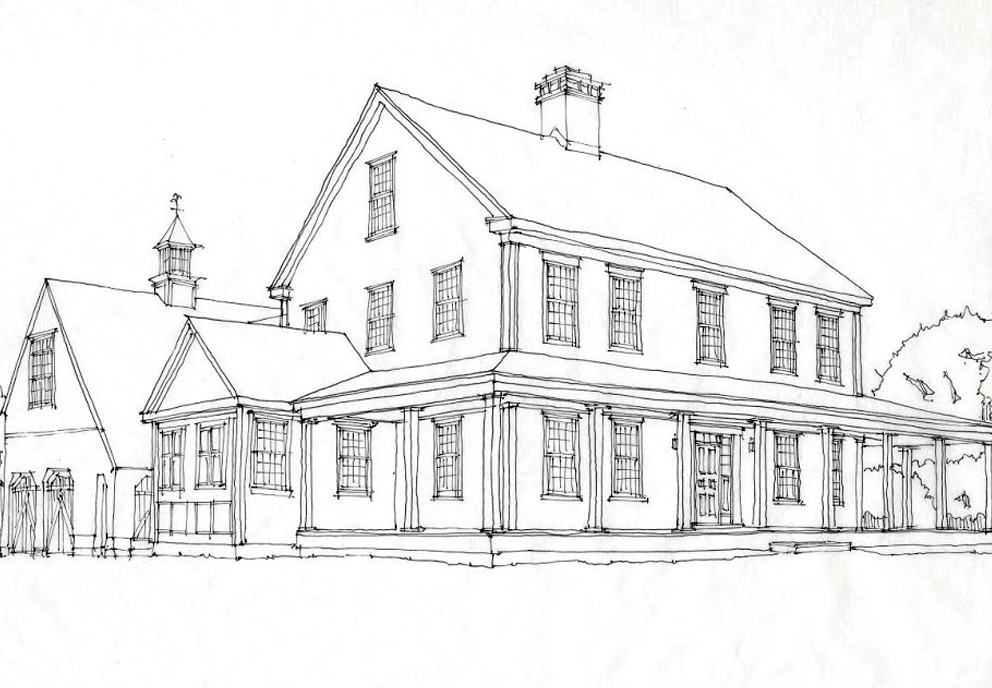 The saltbox colonial exterior trim and siding the for Saltbox colonial house plans
