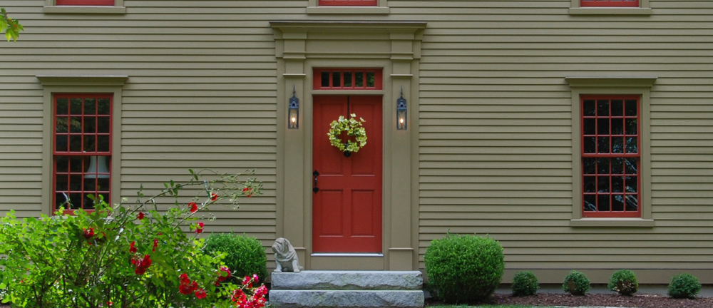 Windows doors colonial exterior trim and siding for Colonial entry door