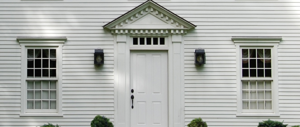Windows doors colonial exterior trim and siding for Front doors for colonial homes