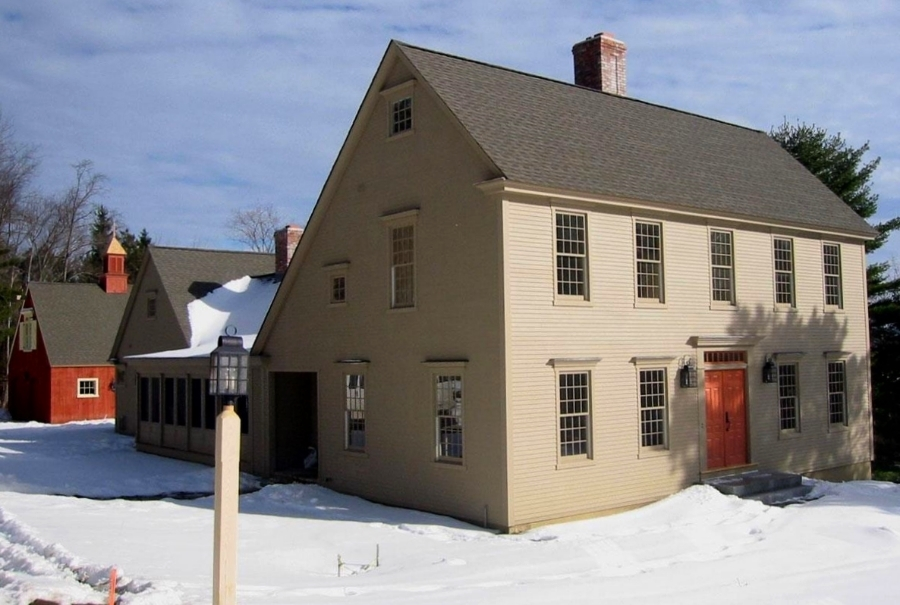 Flat Front Colonial House Exterior
