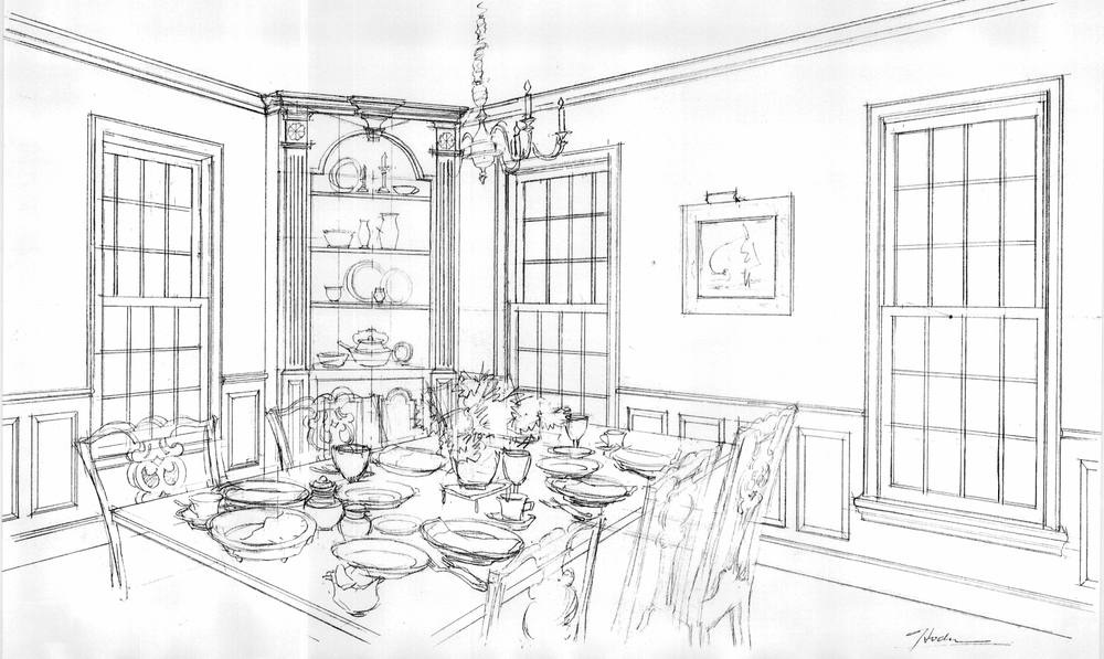 Classic Colonial Homes Dining Room Design