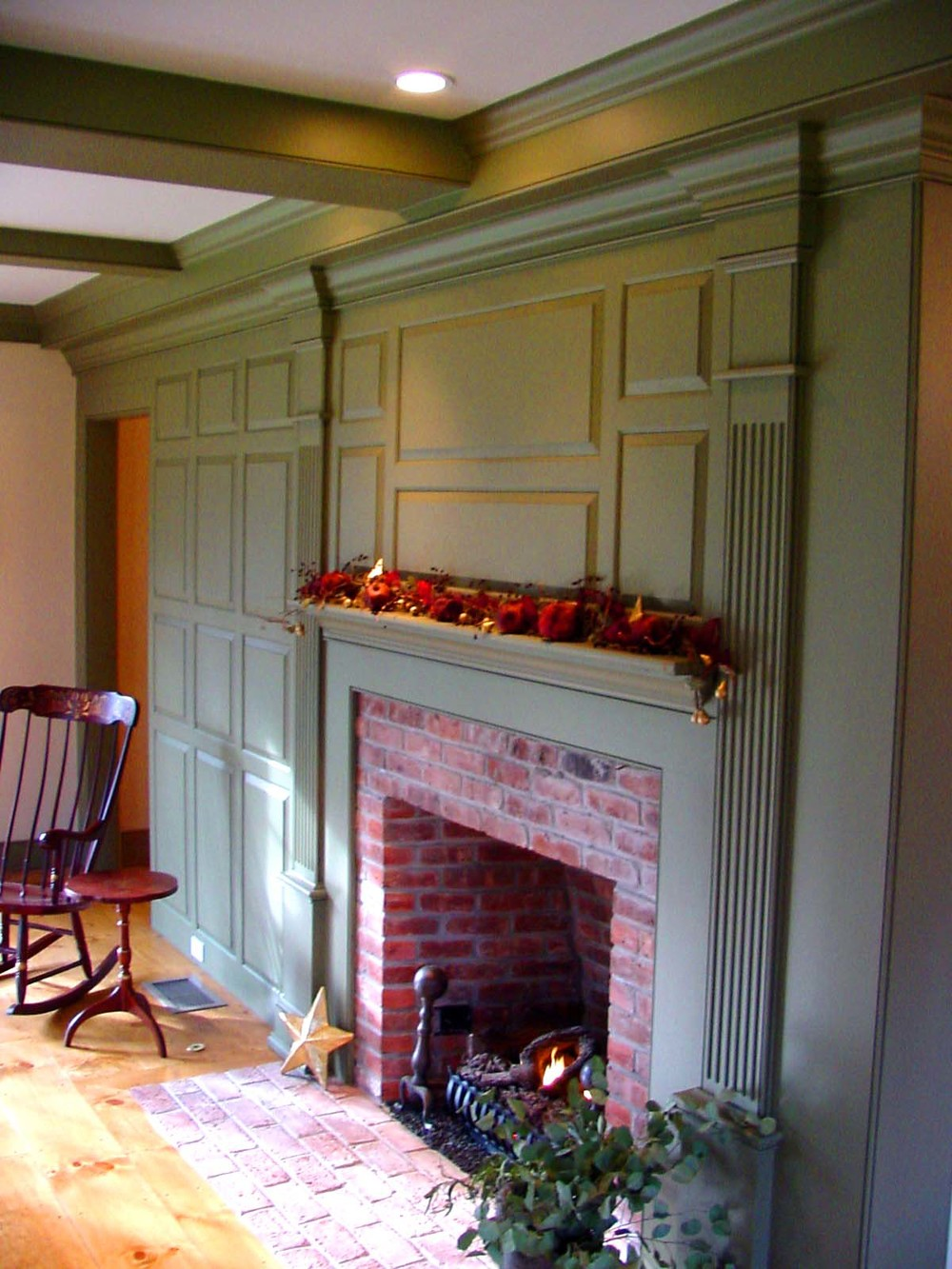 Classic Colonial Homes Interior Fireplace Paneling