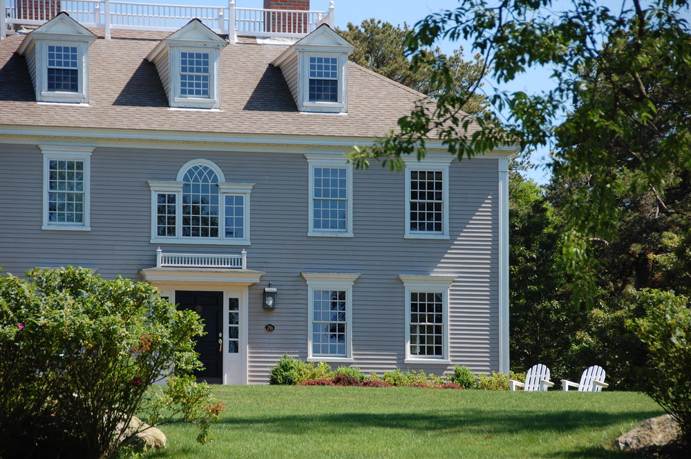 Our process colonial exterior trim and siding our for Custom colonial homes