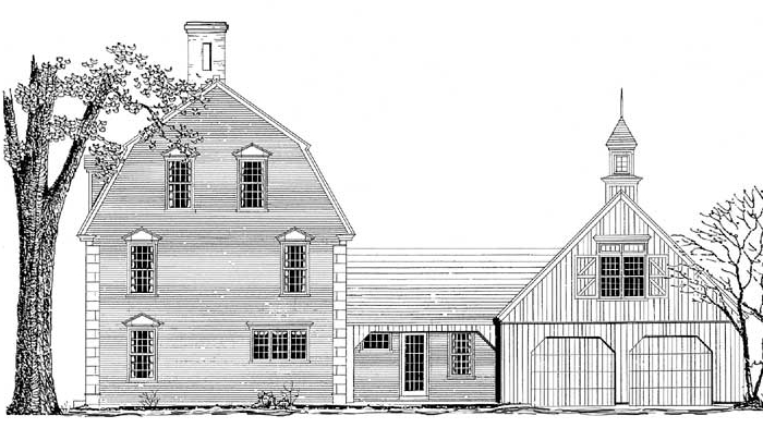 New Gambrel One Right Elevation