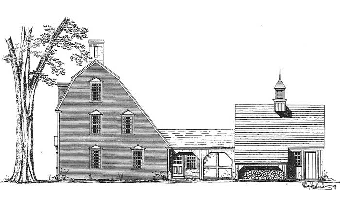 The portsmouth saltbox colonial exterior trim and siding for Saltbox colonial house plans
