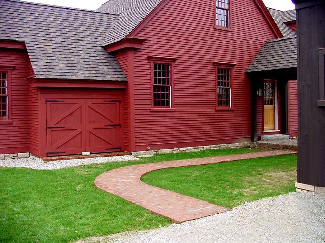 the farmhouse - colonial exterior trim and siding the