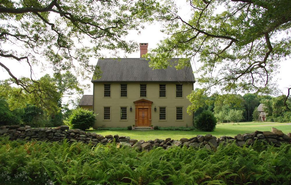 Reproduction Saltbox House Plans