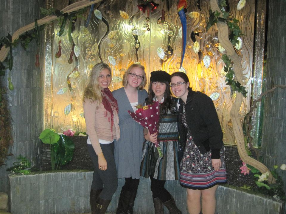 Left to right: Amanda (USA), Sarah (USA), Monika (Indonesia), Dervila (Ireland)