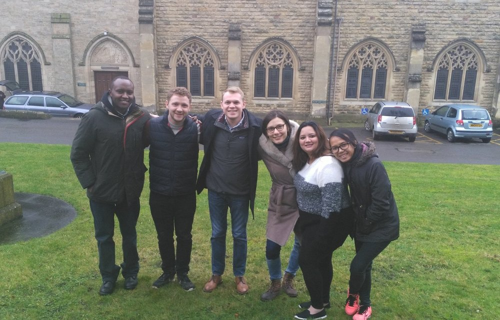 Left to right: Moses (Kenya), Jack (USA), Matthew (USA), Monika (Czech Republic), Kiran (Pakistan), Theresia (Indonesia)