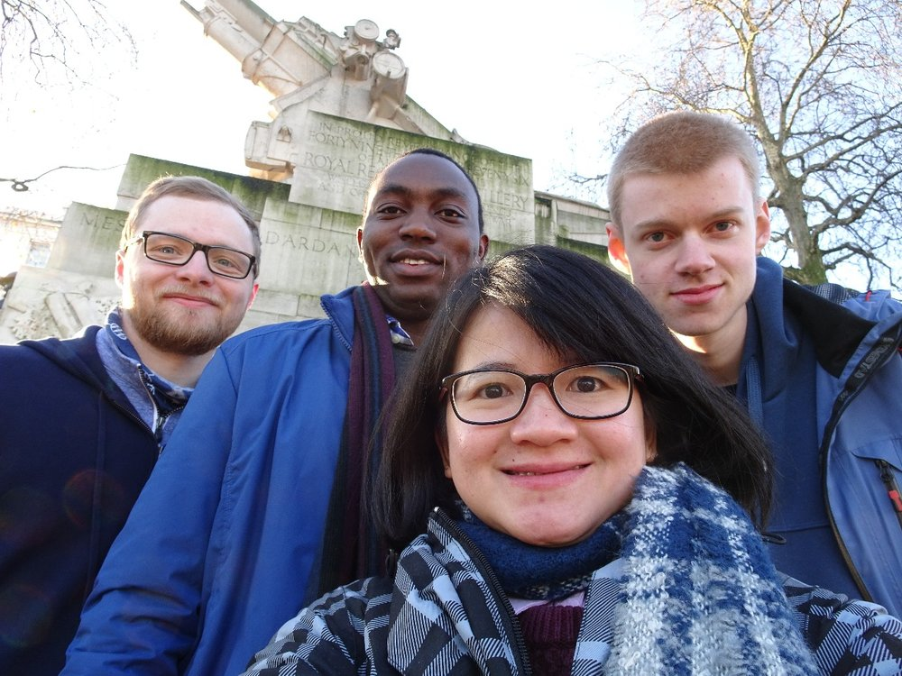 Left to right : Brendan (USA), Urbanus (Kenya), Bella (Indonesia), Joseph (Norway)