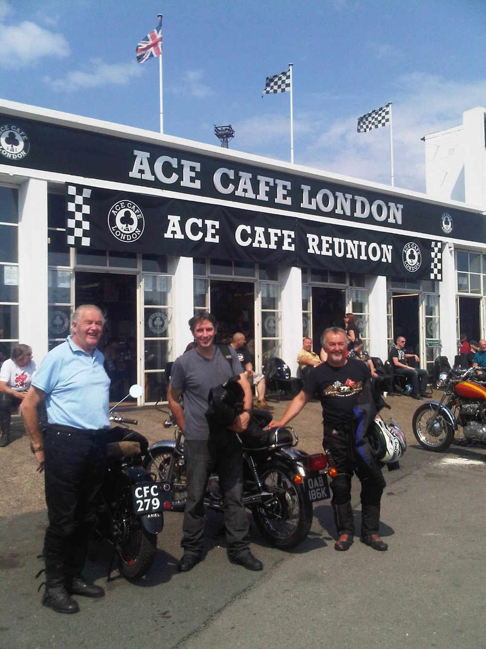 Pilgrimage to the VMCC Ace Cafe Day in 2012