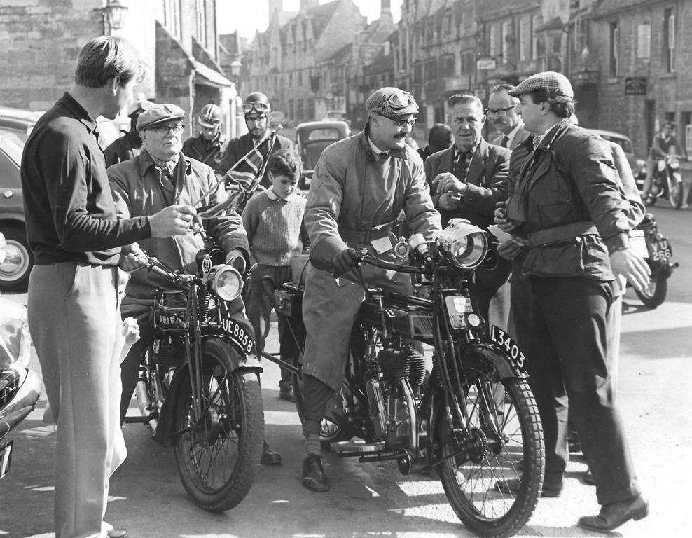 Waving off from the Square at the first ever Club run in 1964. We still depart from the very same place today.