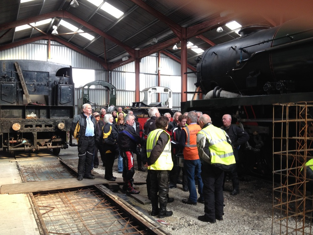 We were treated to a tour of the engine sheds at the Toddington GWR Railway Museum on our October 2014 Idiots Run