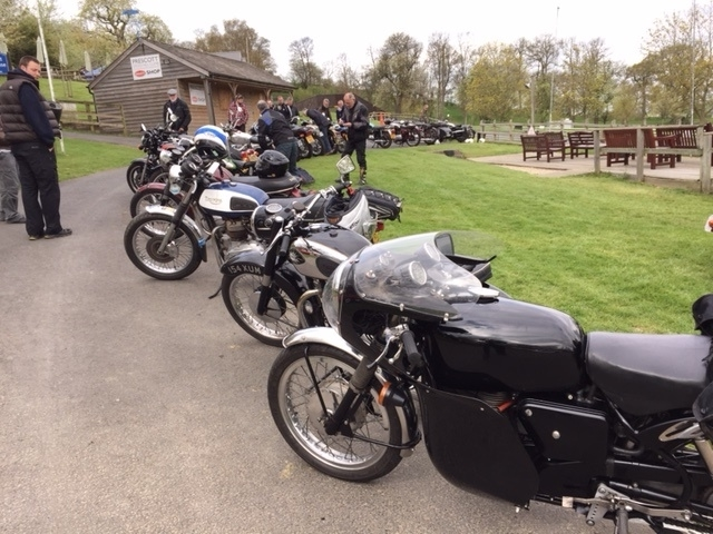 A good turnout for the Prescott Hill Climb Breakfast Club in April 2015