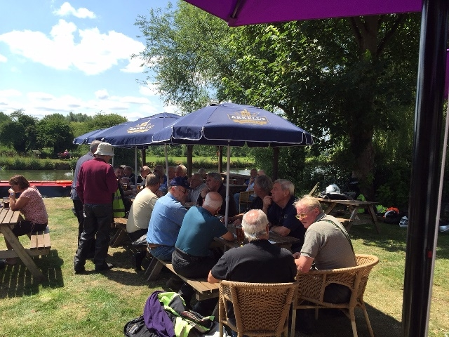 And a hearty lunch was had by the Thames at Lechlade.