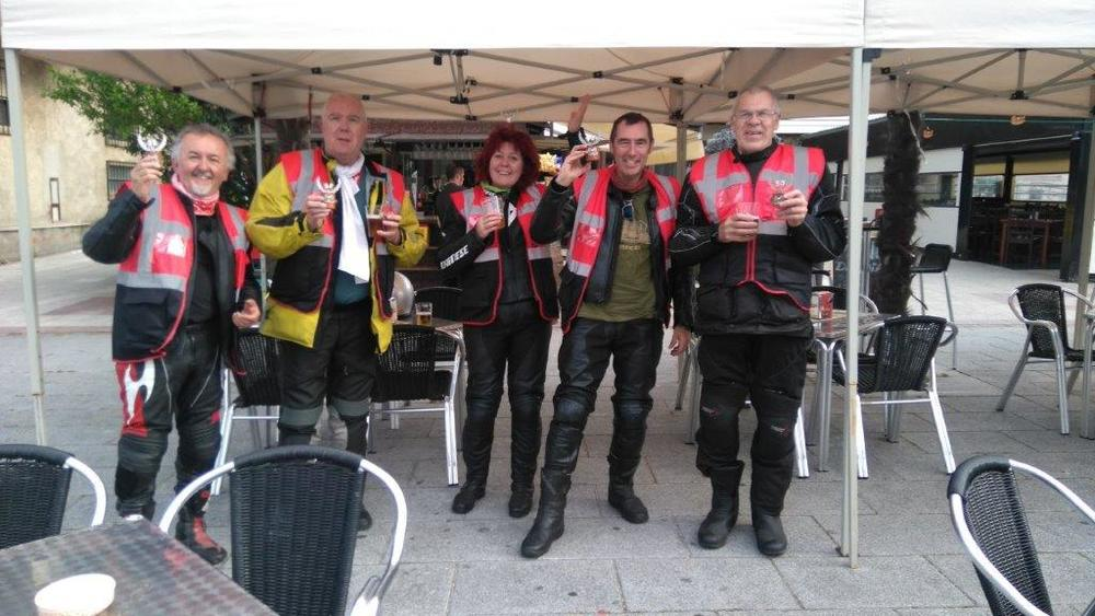 North Cotswold members celebrate at the end of the 5000 Curves Rally