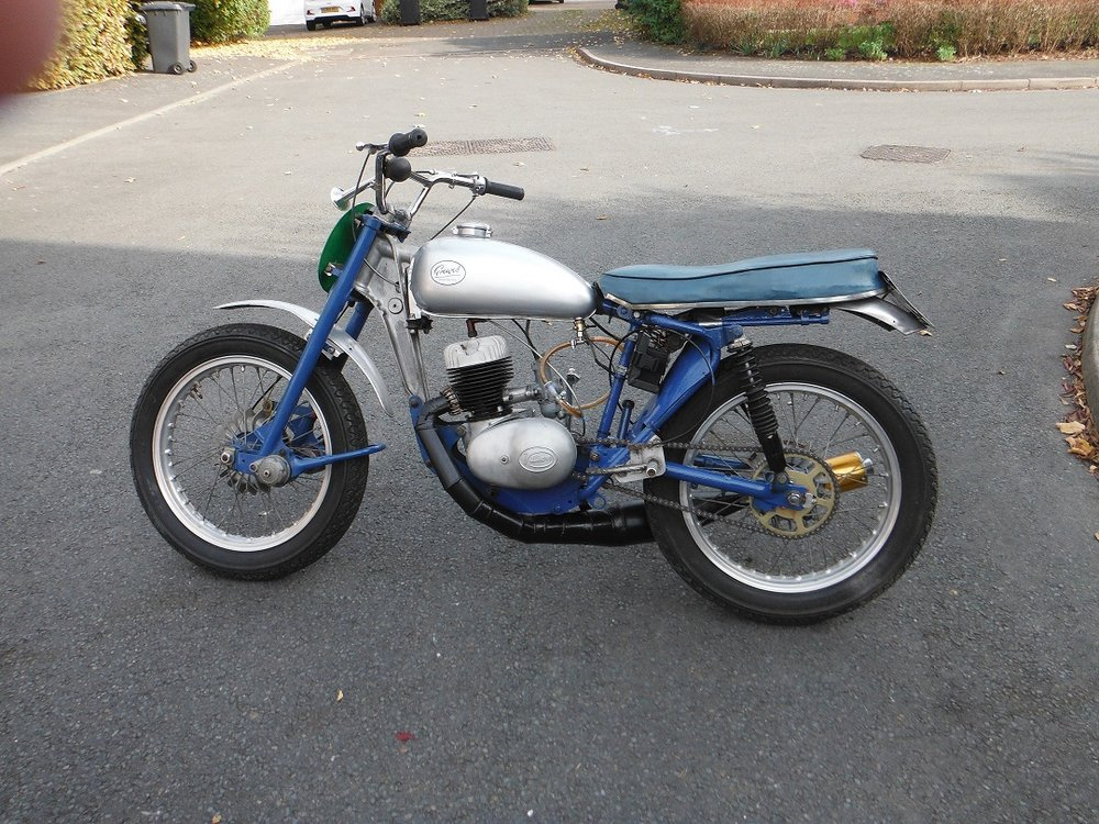SOLD - 1955 Greeves currently for sale. £2650   Contact us by E-mail: ncvmcc@gmail.com