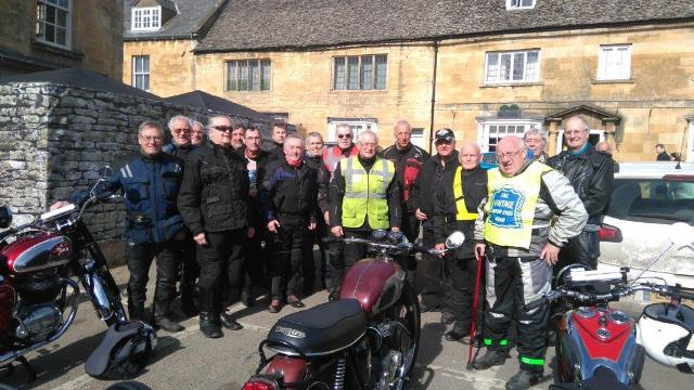 The riding season is now under way. A good turn out and fair weather too made for a very enjoyable run on Sunday 19th of March.