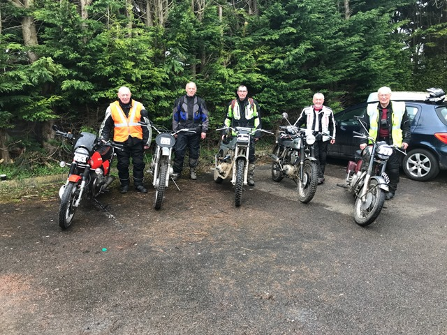 5 hardy, wet and muddy, but happy, riders enjoyed this year's Felix Burke Road Trial