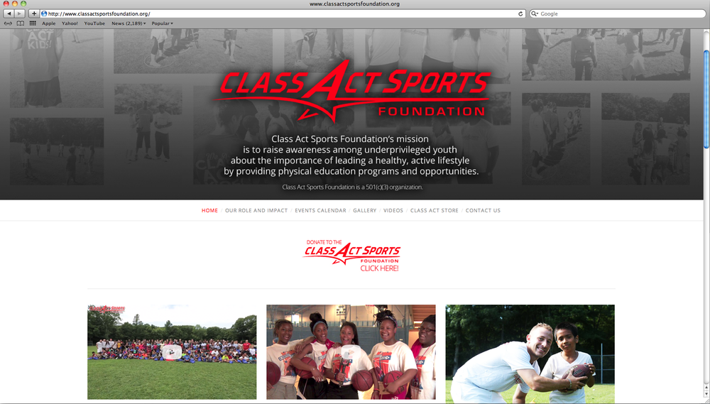 Visit Page:  Class Act Sports Foundation