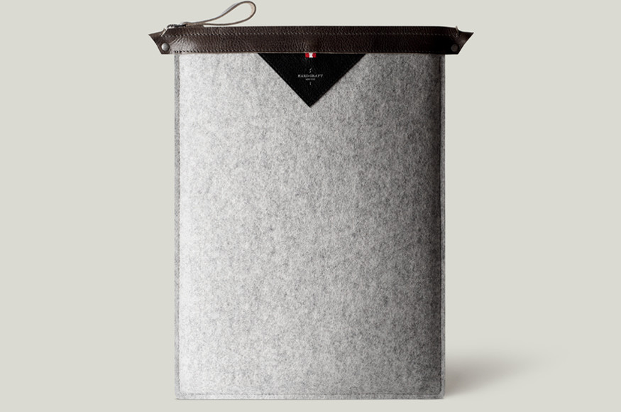 Hard Graft, founded in 2007 in Austria, has a clean, starkly utilitarian aesthetic. Working exclusively with leather and wool felt, the products are assembled by Italian artisans and are creatively functional. A brand that would be much appreciated by the design aficionado in your life.