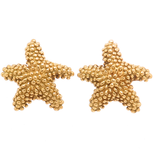 9ace1b061 Tiffany & Co. Yellow Gold Starfish Earrings — N. GREEN AND SONS