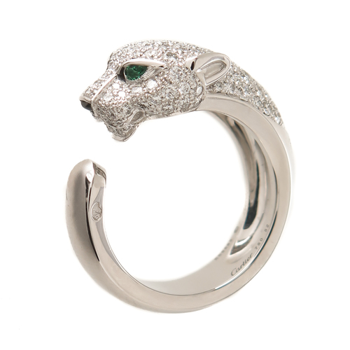b258ce540bb5c Cartier Diamond Gold Panther Ring — N. GREEN AND SONS