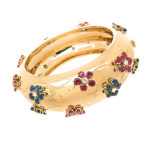 alhambra bracelet vca opal yellow sw p vintage gold diamond pink and with