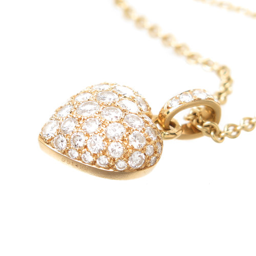 Cartier diamond pave heart pendant necklace n green and sons cartier diamond pave heart pendant necklace aloadofball Images