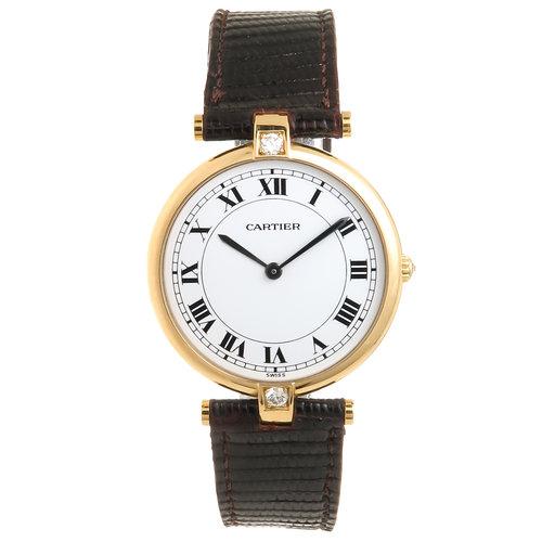 d318ad36dba Cartier Yellow Gold Diamond Large Vendome Collection Quartz Wristwatch