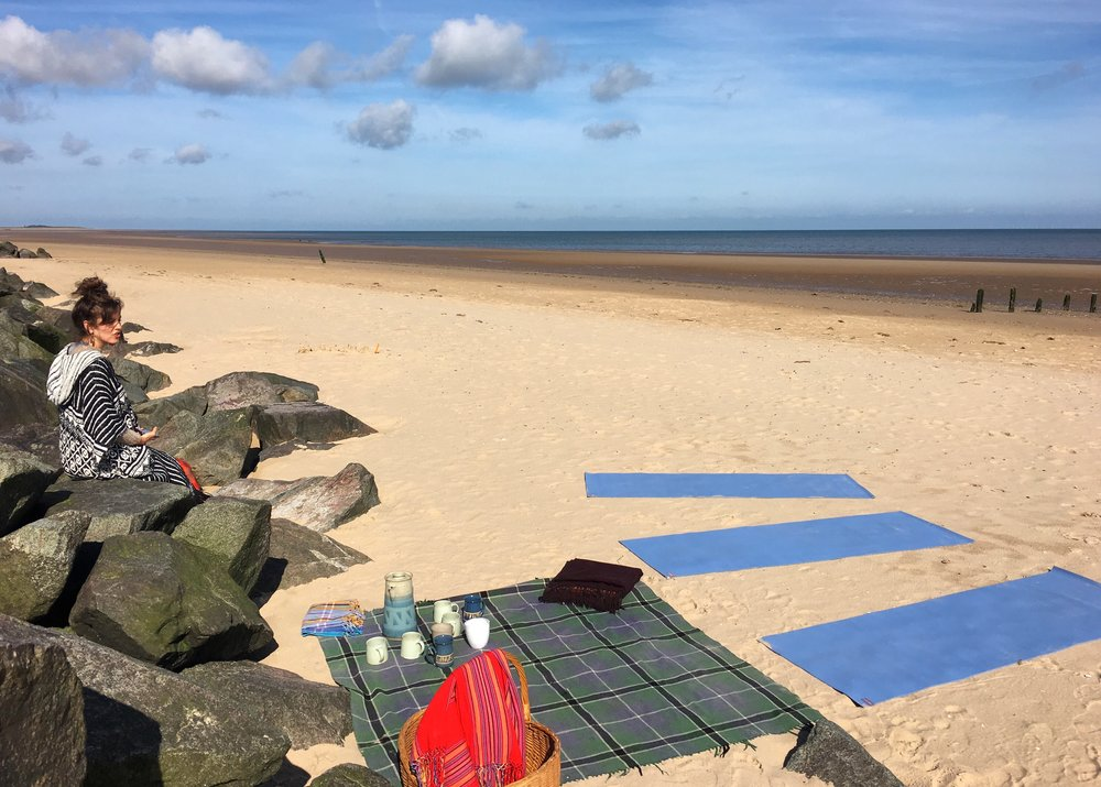 The first Love Summer Sound event at Brancaster beach