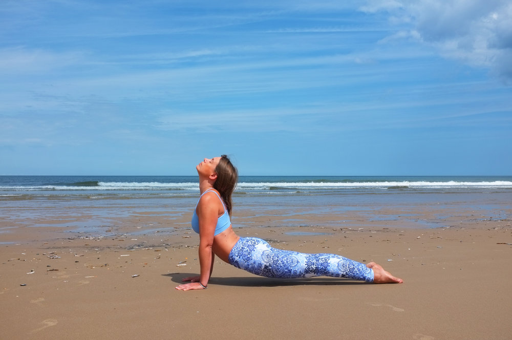 Zella Yoga at Brancaster Beach