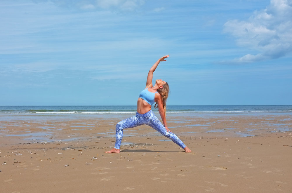 Zella Yoga at Brancaster Beach