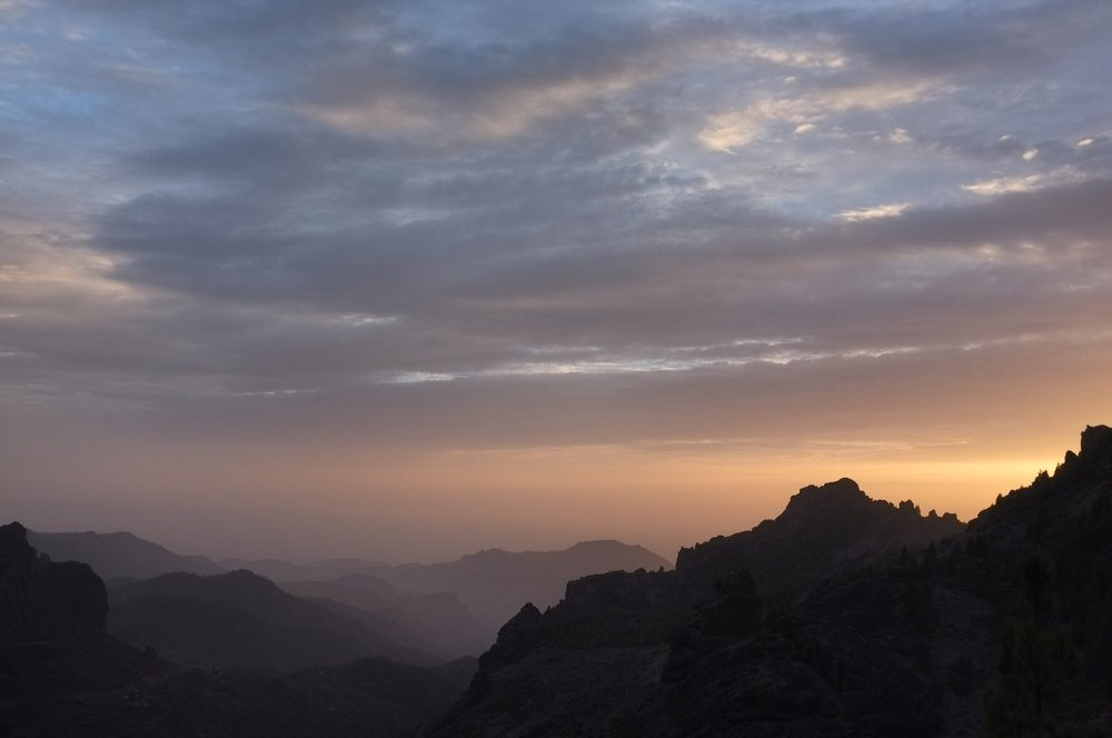 Sunset view on the decent from Roque Nublo, Gran Canaria