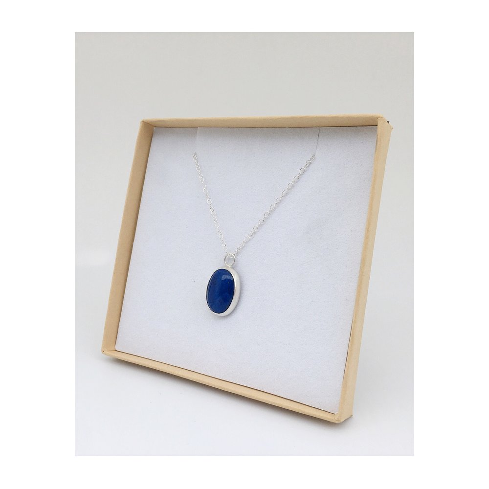 Sterling silver & Lapis Lazuli pendant   Birthday gift, for a Daughter Connecticut, USA