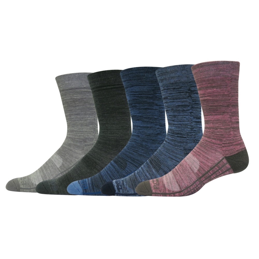 STLYE # B9105 MENS SPACE DYE CREW SOCKS