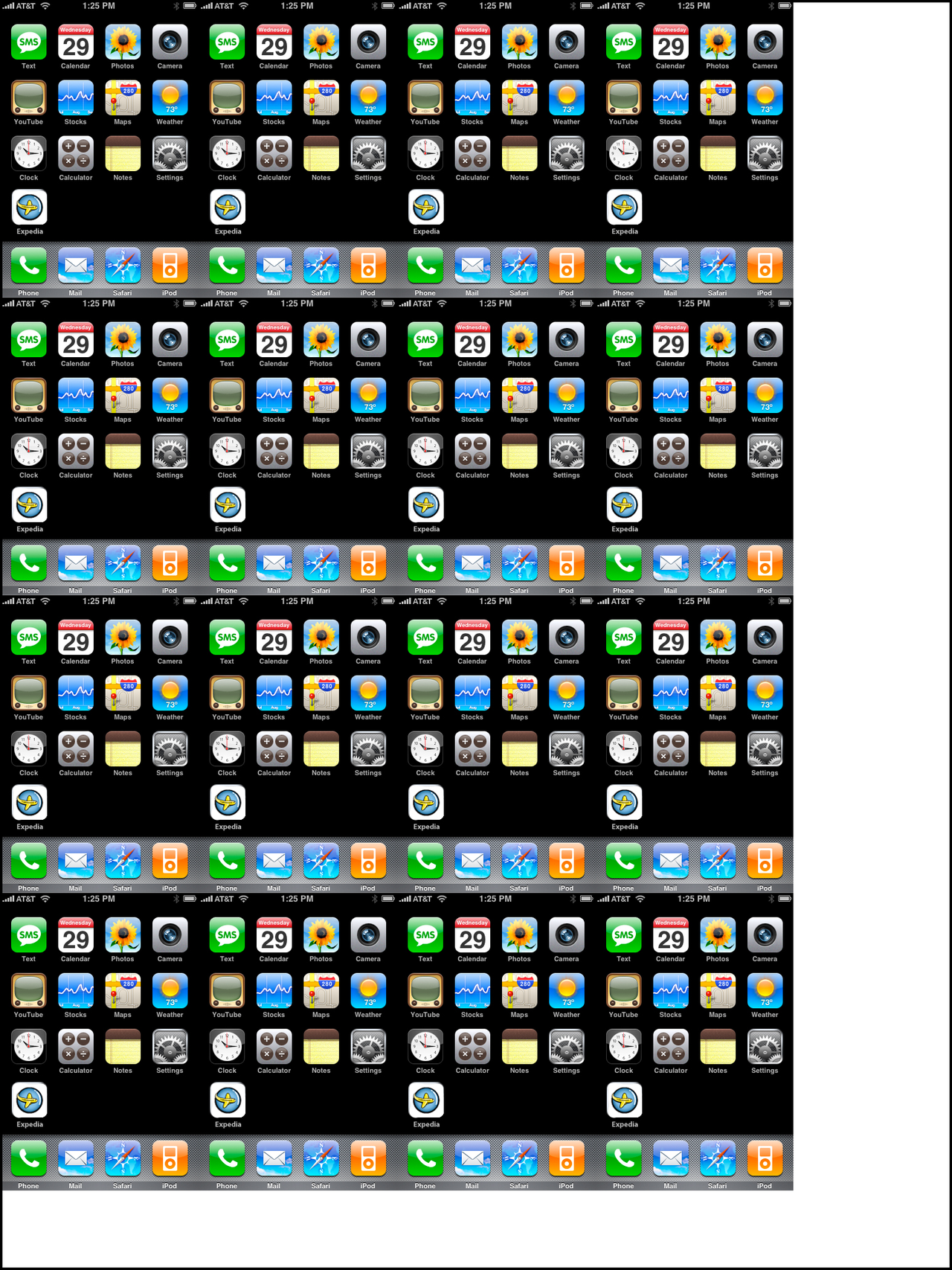 How many original i Phone screens  can fit into an iPad 3 display? Source