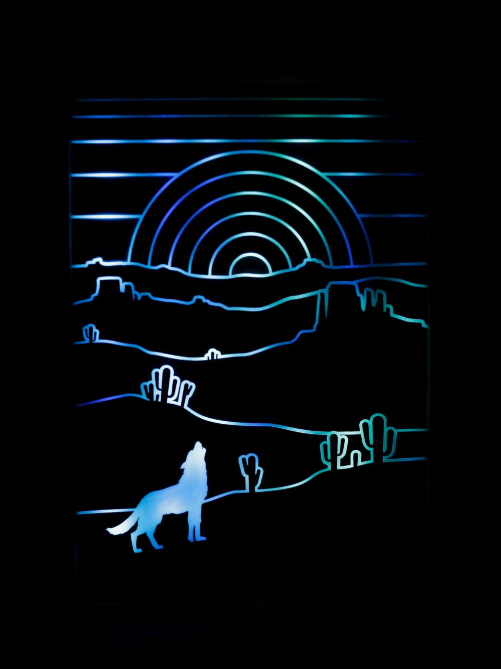 Digital Desert Wolf