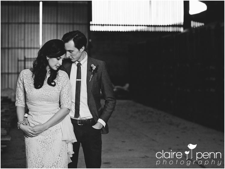 Bride and groom vintage styling