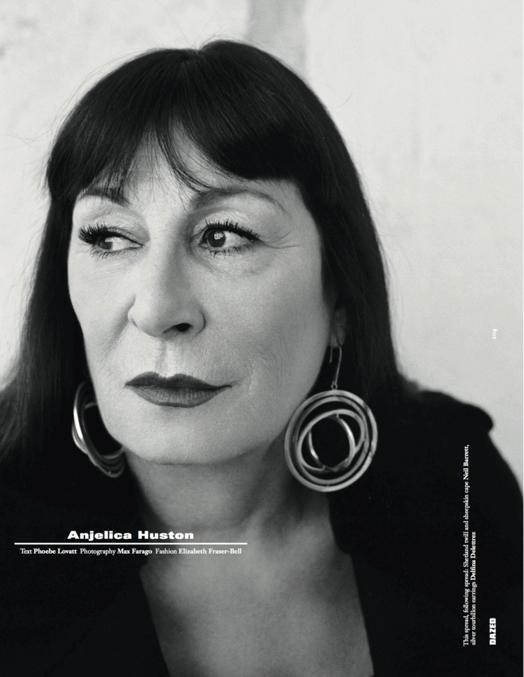 Anjelica Huston - Dazed