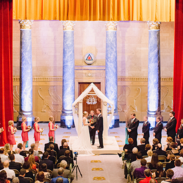 DES MOINES SCOTTISH RITE CONSISTORY The Scottish Rite Consistory is an open space often used for weddings.  – 515.288.8927 Website Downtown Des Moines, IA – Venue page coming soon.